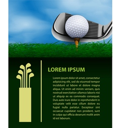 Golf design template vector image
