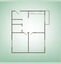 apartment house floor plans brown flax vector image vector image