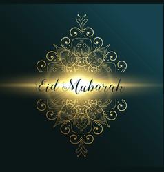 eid mubarak muslim festival greeting card design vector image vector image