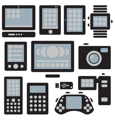 gadgets set vector image