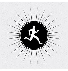 running design vector image vector image