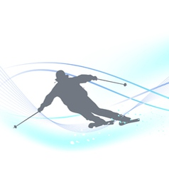Winter background with a skier vector image