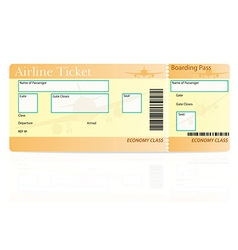 airline ticket 04 vector image vector image