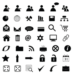 general web icons vector image vector image