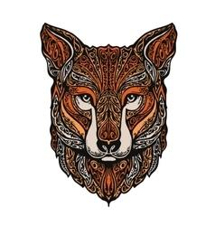 Hand drawn fox Ethnic patterns vector image vector image
