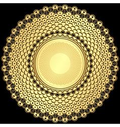 round vintage frame vector image vector image