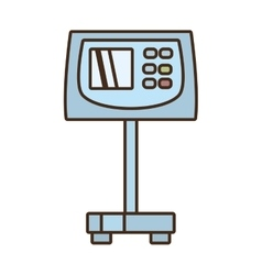 Cartoon weight scale cargo delivery vector