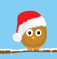 funny animal with christmas hat color vector image vector image