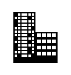 silhouette buildings and city scene line sticker vector image vector image