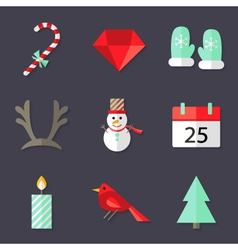 9 Christmas Icons Set 3 vector