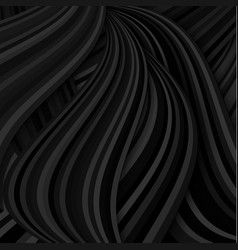 Abstract background with dark black waves vector