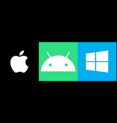 Android apple windows vector