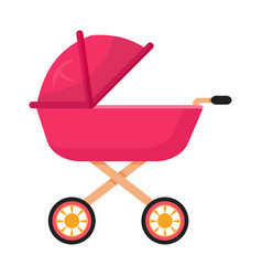 Bacarriage pram flat vector