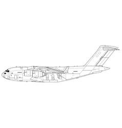 Boeing c-17 globemaster iii vector