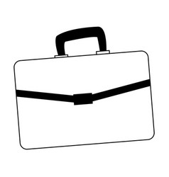 Busines briefcase isolated in black and white vector