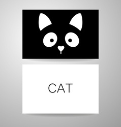 Cat animal template vector