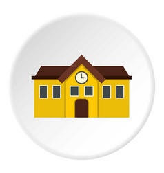 Chapel icon circle vector
