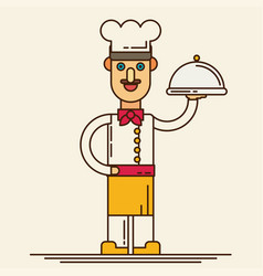 Chef flat design vector