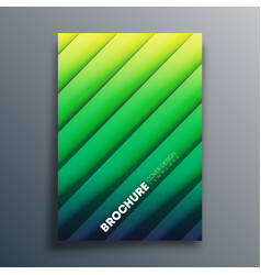 Cover template with diagonal lines for flyer vector