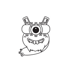 design character one eye monster vector image