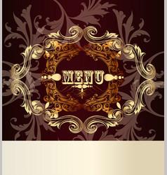 Elegant menu card for design vector