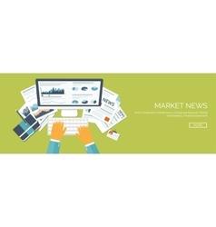Flat header Market news vector image