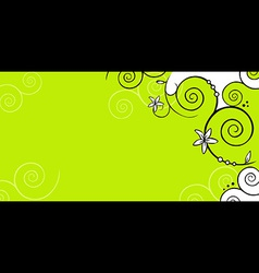 Floral background green vector