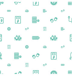 Generation icons pattern seamless white background vector