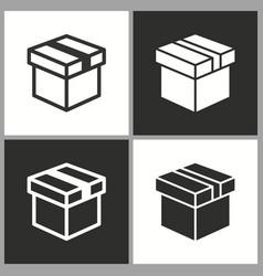 Gift box surprise icon birthday present vector