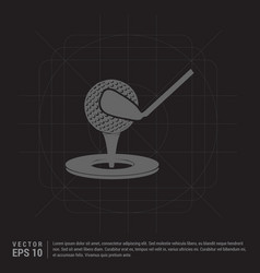 golf design icon vector image