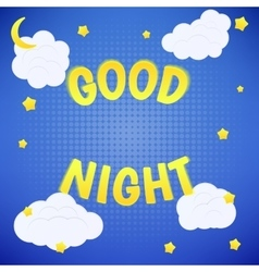 Good night poster vector