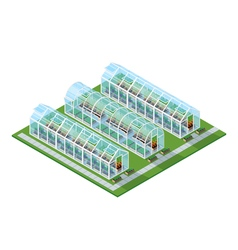 Greenhouses Isometric Location vector