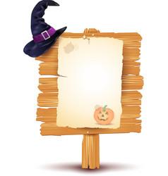 Halloween signboard vector