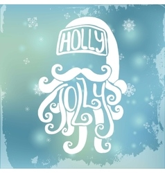 Handdrawn Santa on Blurred Background Xmas vector image