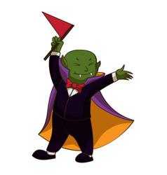 happy vampire kid icon cartoon style vector image