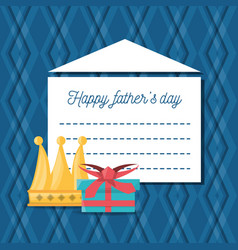 Hathers day card with decoration elements vector