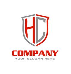 Hc initial logo design vector