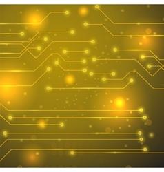 High Tech Printed Circuit Board vector image