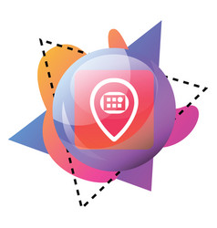 icon a bubble with meetvibe logo and colorful vector image