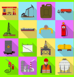 Isolated object of oil and gas logo set of oil vector