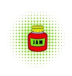 Jam icon pop-art style vector image