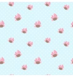 kawaii cupcakes seamless pattern Pink and vector image