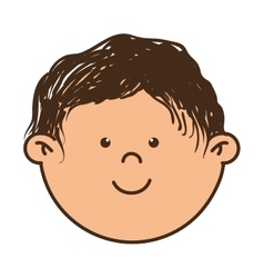 kid smiling cartoon vector image