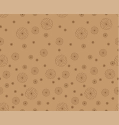 Kraft paper texture with marsmallows vector