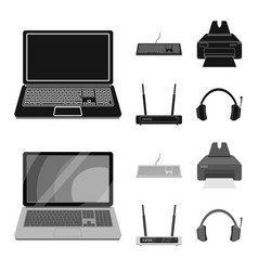 Laptop and device sign set vector