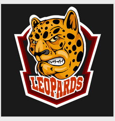 Leopard head mascot for sport team vector