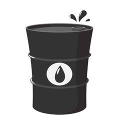 Metal oil barrel cartoon icon vector image