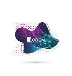 modern abstract graphic design element vector image