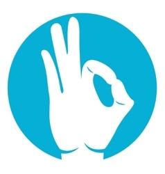Ok hand icon vector