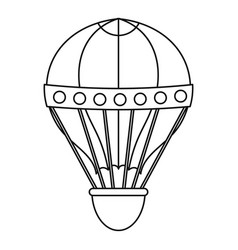 old fashioned helium balloon icon outline style vector image